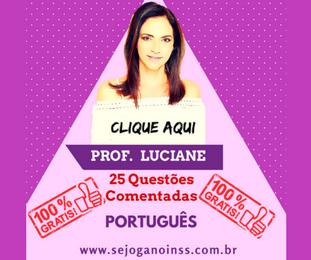 Curso Português - 25 questões comentadas em pdf - Pacote 1