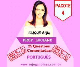 Curso Português - 25 questões comentadas em pdf - Pacote 4