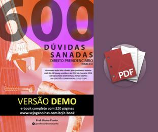 Material Demonstrativo - 600 Dúvidas Sanadas de Direito Previdenciário
