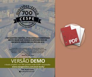 Material Demonstrativo - Curso: 700 Questões comentadas em PDF - Estilo CESPE