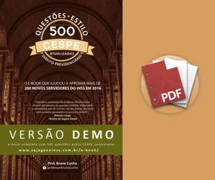 Material Demonstrativo - 500 Questões Comentadas em pdf - Estilo CESPE