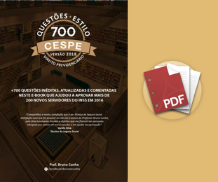700 Questões comentadas em PDF - Estilo CESPE