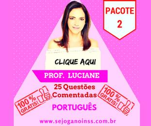 Curso Português - 25 questões comentadas em pdf - Pacote 2