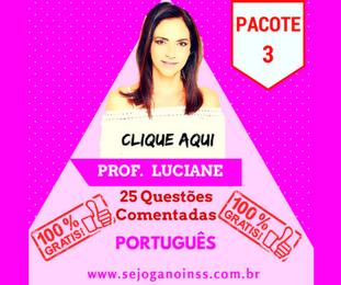 Curso Português - 25 questões comentadas em pdf - Pacote 3